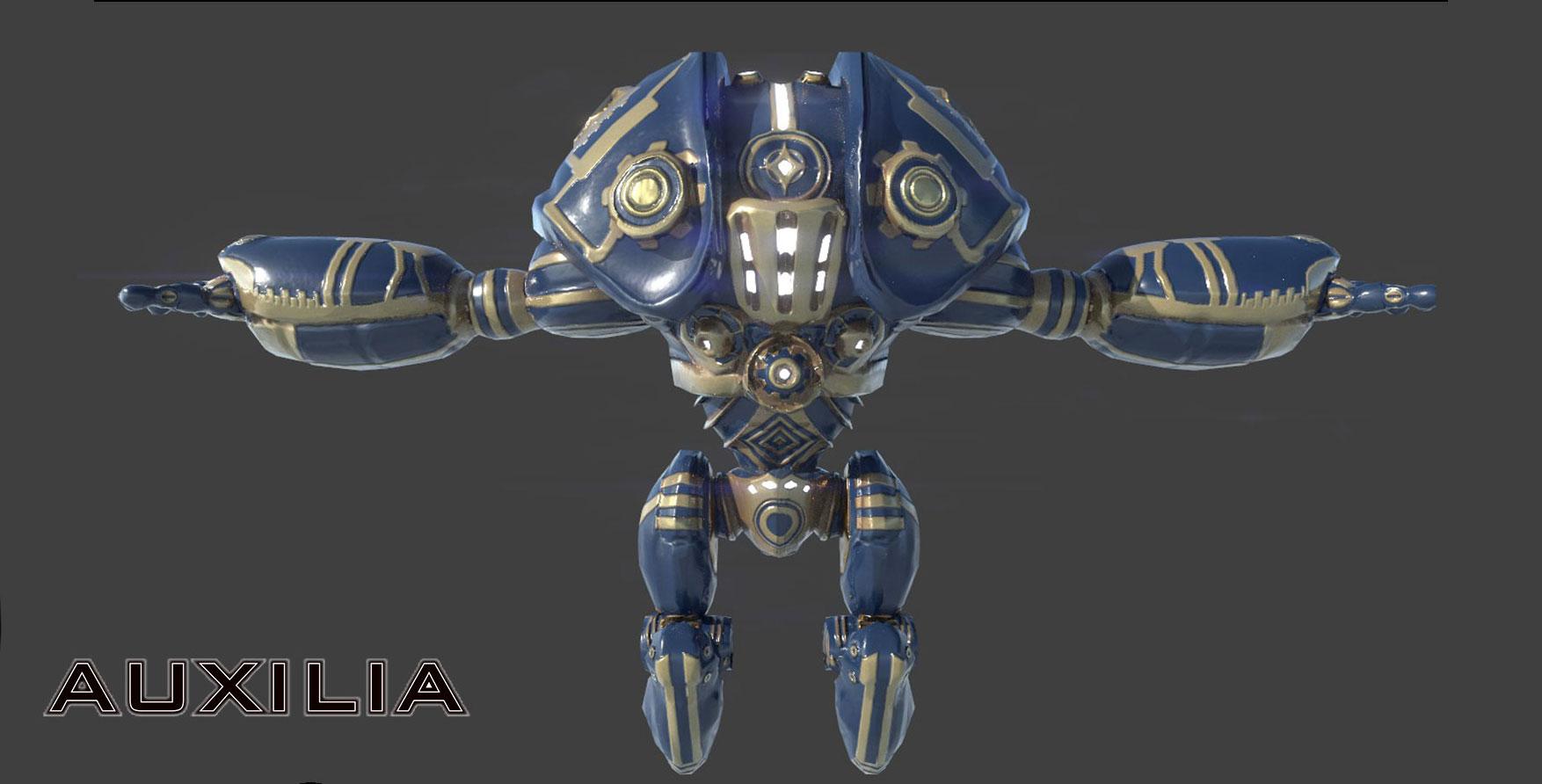 Auxilia Game Robot Render - Artcade Student Project | AIE Lafayette